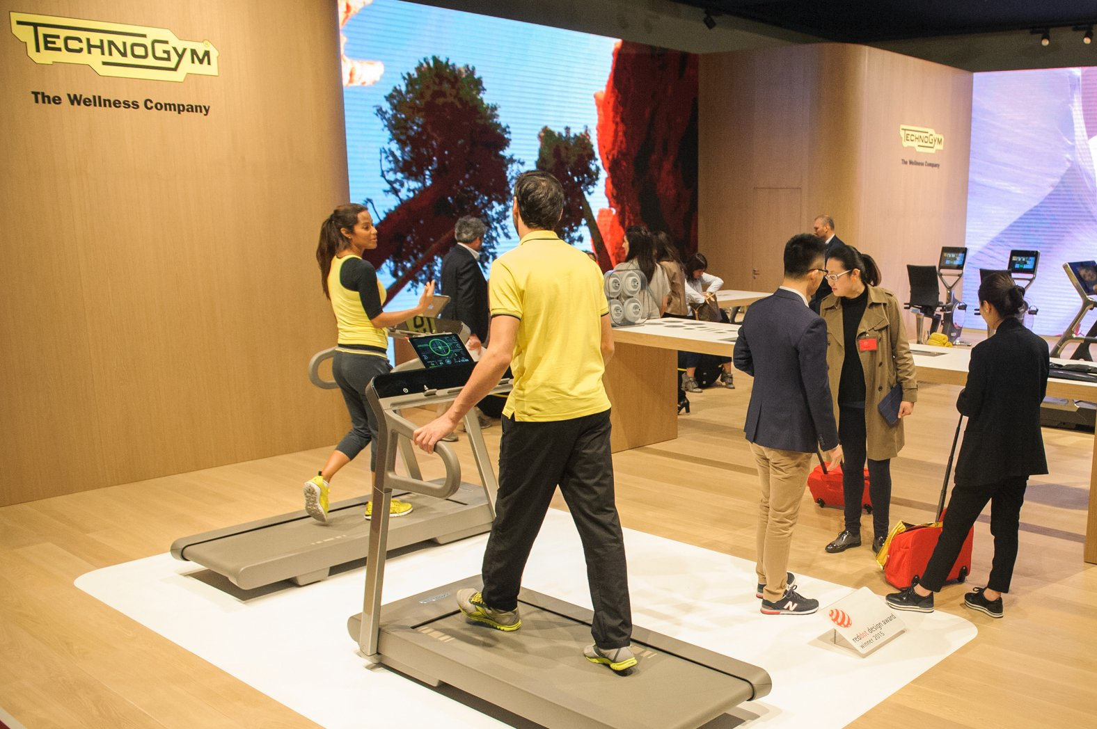 Technogym presents MYRUN TECHNOGYM at Salone del Mobile 2015, the Milan home decoration fair
