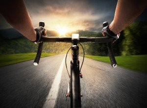 Cycling Power Meter Sunset Road