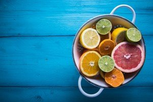 Citrus fruits provide vegetarian runners with zinc and iron