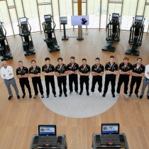 The young drivers of  Lamborghini Squadra Corse  train with Technogym