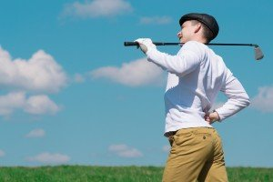 Golf player injuried while playing