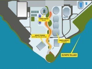 Village map Rio Olympics 2016
