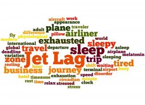 Jet lag word cloud