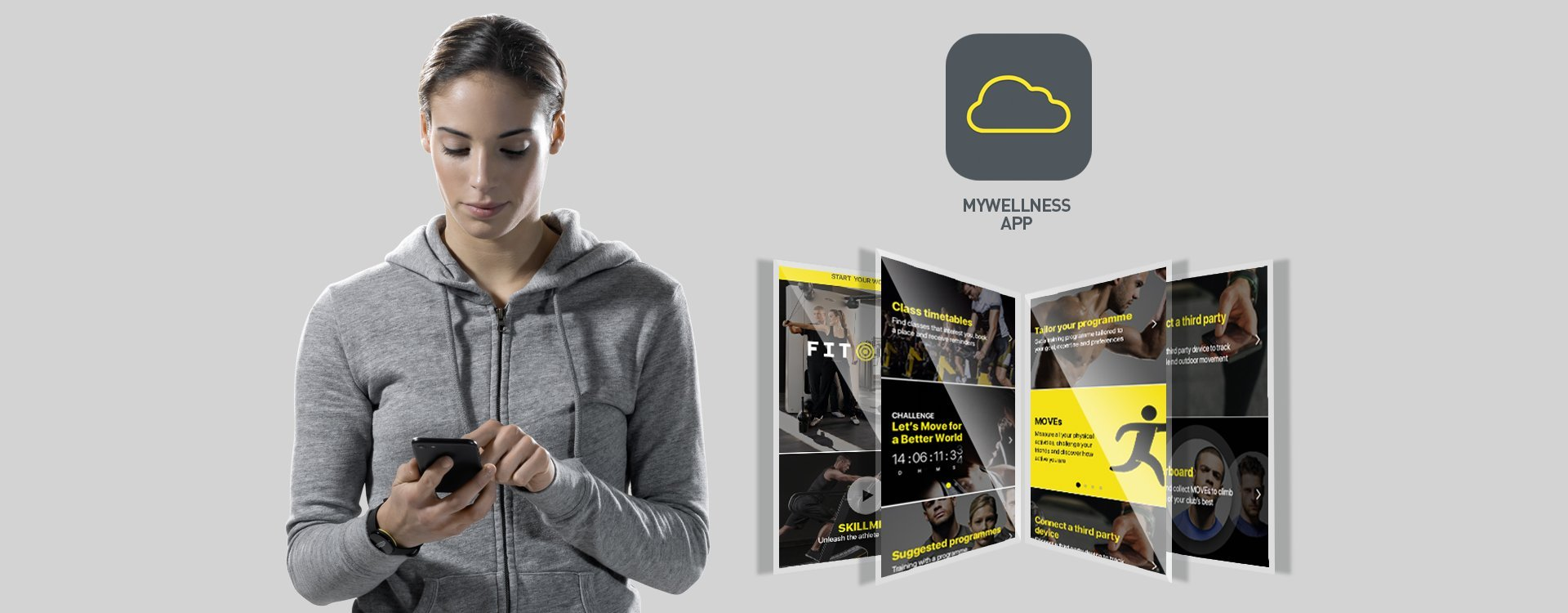 Enjoy training with mywellness app