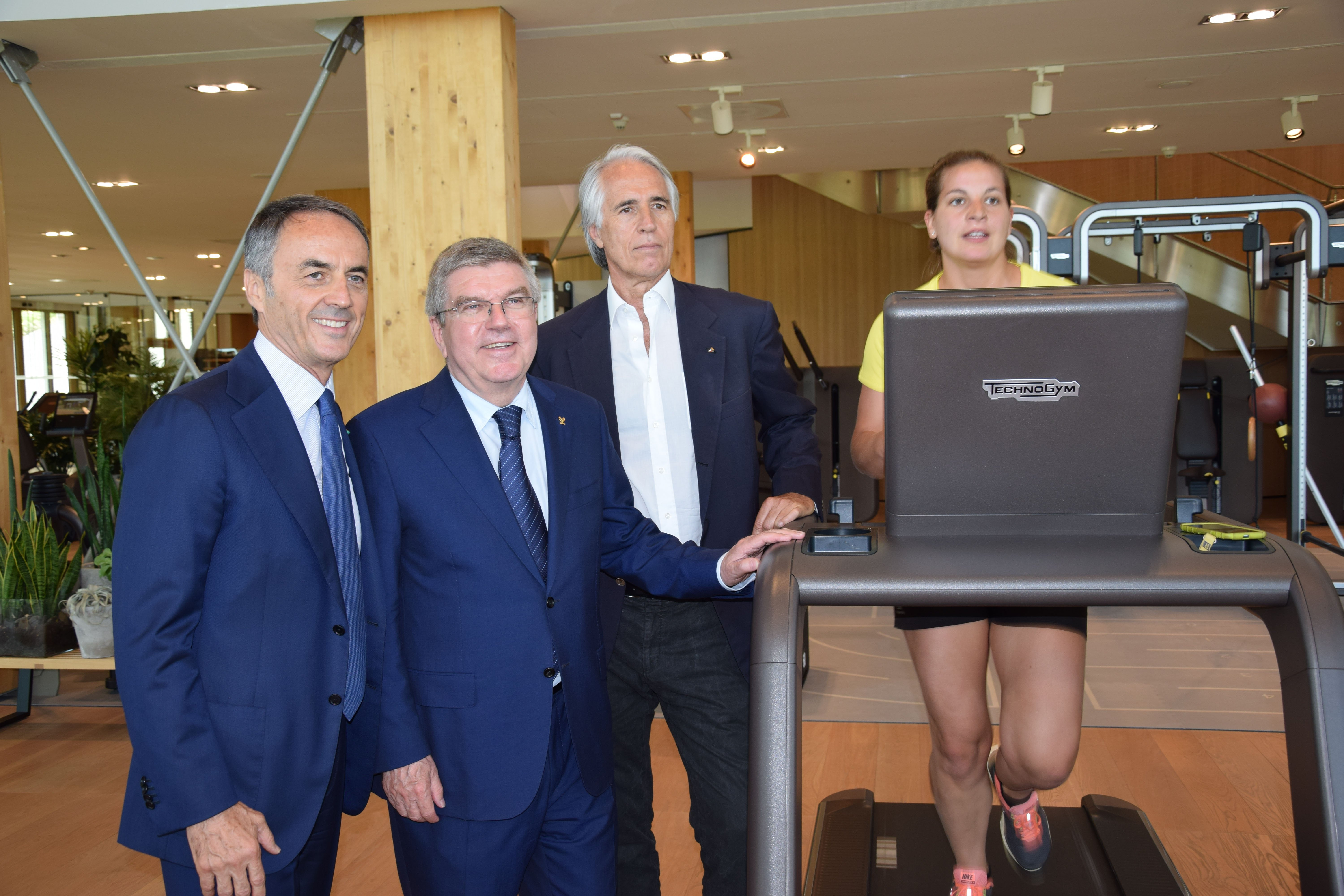 Thomas Bach, President of the International Olympic Committee, visits Technogym