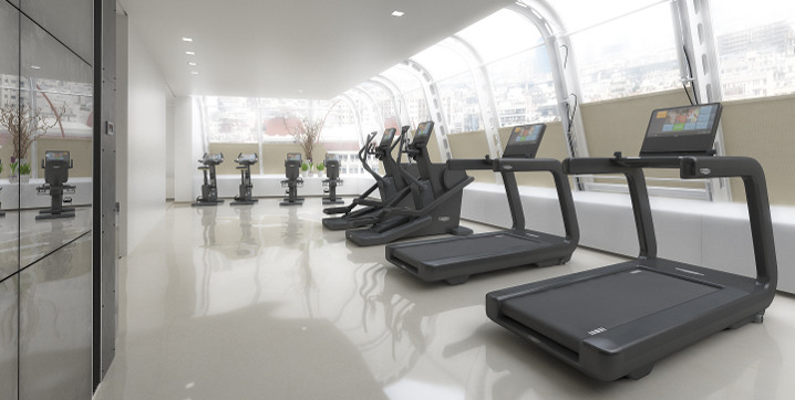 gym equipped with ARTIS cardio