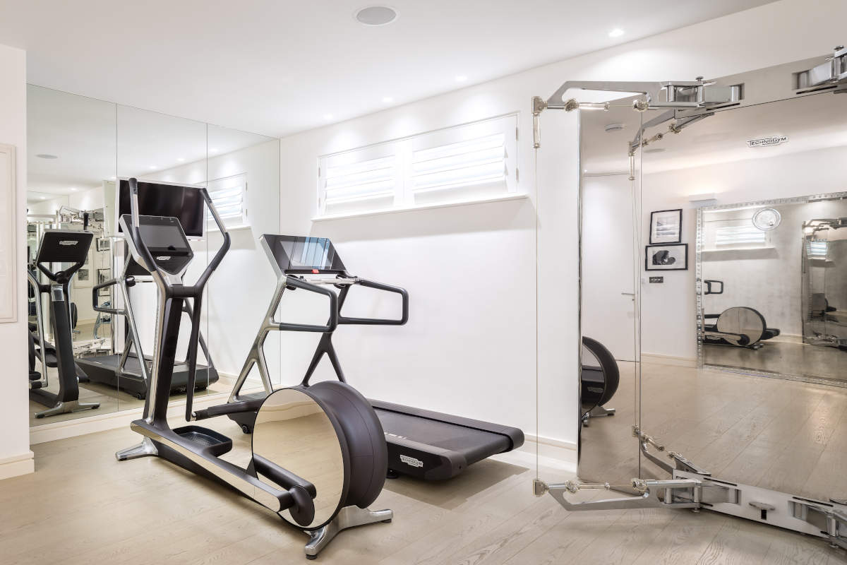 When gym equipment can also be an element of decor
