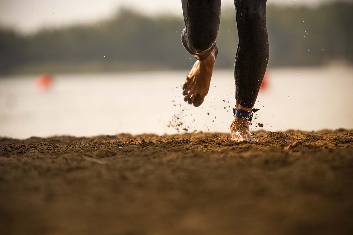 Running section in the sand