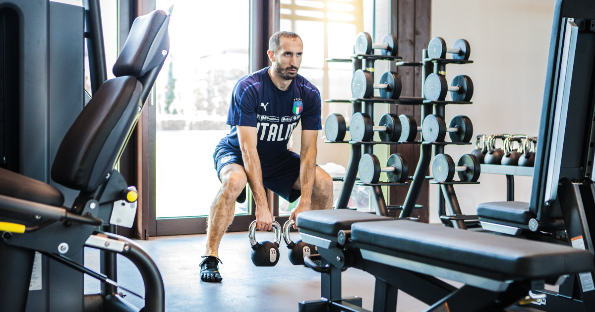 Chiellini training with Technogym